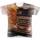 Camiseta Caminhao Mercedes Benz no Mercado Livre Brasil bc89f05767b2b