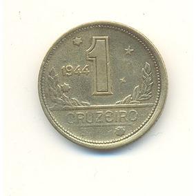 1 Crz. 1944 Sem Sigla Com Pequena Sobra De Metal Na Borda .