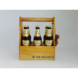 Caja Six Pack Cerveza 355ml Madera 100% Pino
