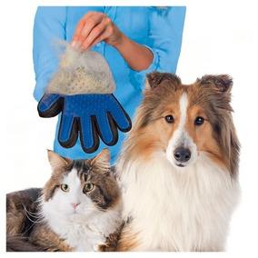 Luva Escova Nano Magnética Tira Pelos Dos Pets Cães E Gatos