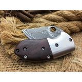 Canivete Aço Damasco Mini Pocket Bolso Capa Grilo