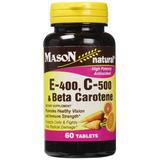 Mason Vitaminas E 400 C 500 Y El Beta Caroteno Tableta...