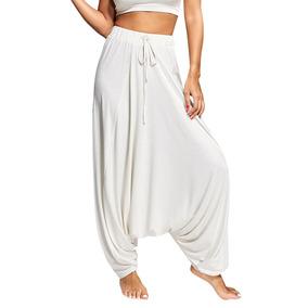 Pantalones Harén Con Parte Fondo La Moda Mujeres Con Con Co