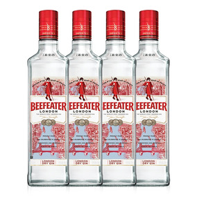 Kit Gin Beefeater London Dry 750ml - 4 Unidades