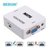 Kit Conversor Vga To Hdmi + Cables : Vga+hdmi + Audio 3,5mm
