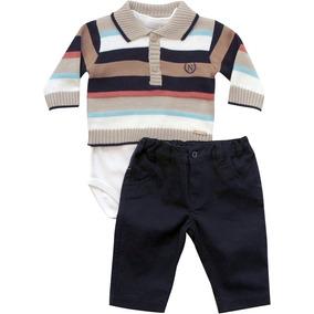 Conjunto Body Com Polo E Calça Noruega Baby b7b70050db3