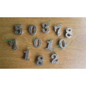 Números De Metal Niquelados Para Frente De Casas X Mayor
