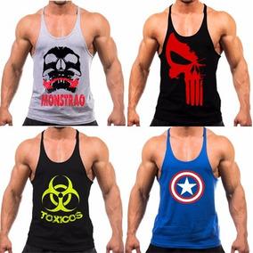 Kit 3 Regatas Cavada Masculina Academia Musculação Fitness 9ecbaa594e4