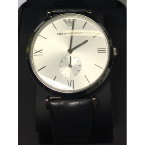 be88995c126 Relógio Original Empório Armani Pulseira Couro Preto Usado