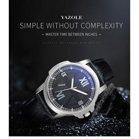 Reloj Yazole 389 Negro Hombre Elegante Envío Gratis