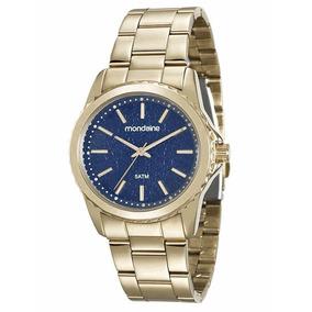 14ffb40acba Relogio Feminino Dourado Do Fundo Azul - Relógios De Pulso no ...
