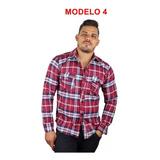 Camisa Masculina Xadrez Flanela Lenhador 6 Modelos