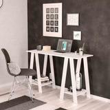 Mesa/escrivaninha Para Computador Cavalete Delta Branco - Po