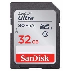 Sandisk Sdhc Ultra 80mb/s Class10 32gb Câmera Canon Fujifilm