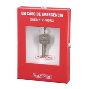Caixa Quebra Vidro Guarda Chave Porta De Segurança Walmonof