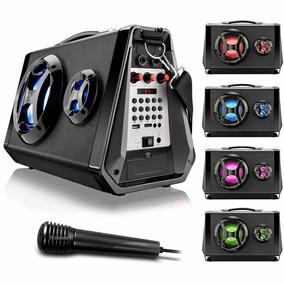 Caixa Som Amplificada Bluetooth Usb Rec Microfone 80w Sp217