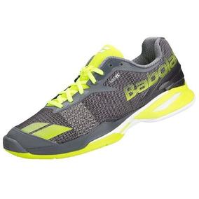 Tênis Babolat Jet Clay Men Yellow Grey Kevlar Tennis Saibro