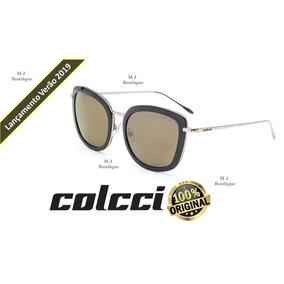 3b0f5624bba7e Óculos Sol Colcci Preto Brilho Oversized C0091i5416 Original