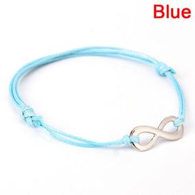 64dbb5cba066 Infinito De Plata Antiguo De Colores Pulsera De... (blue) por eBay