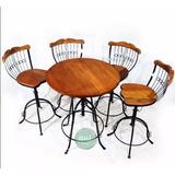 Conjunto Bistrô Regulável 1 Mesa 2 Cadeiras Madeira Promoção