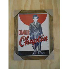 Poster Emoldurado - Chaplin - Frete Grátis