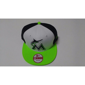 Boné New Era Miami Marlins Mlb Branco Preto Verde 790a7d2e83b