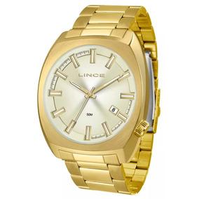 Relógio Lince Masculino Mrg4584s C1kx Dourado Com Nota