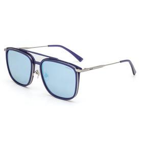 30ed02b66dc5b Óculos De Sol Ev12 Preto Fosco Lentes Espelhadas Prata - Óculos no ...