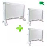 Combo 3 Calefactor Exahome Estufa Electrica 3 Potencias