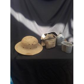 Sombrero De Cazador Antiguo Y Cantinplora Primer Guerra Mund 2344621bd74