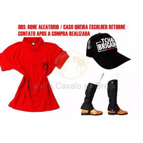 Perneira Vermelha Brigadista - Cavalos no Mercado Livre Brasil c839bf25567