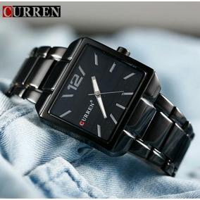 a1f50400ecb Relogio Quadrado Masculino Curren Preto - Relógios no Mercado Livre ...