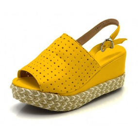 d3e5b6d753 Sapato Anabela Cor Nude - Sapatos Amarelo no Mercado Livre Brasil