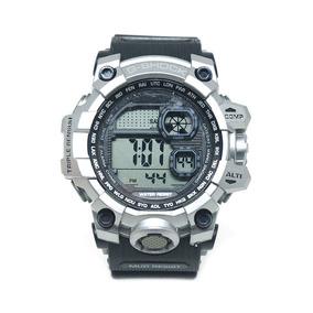 Relógio Digital Casio G-shock Preto E Prata