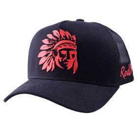 Boné Red Man Redman Blood Original Índio Lançamento +adesivo · R  120 0d997244a9e