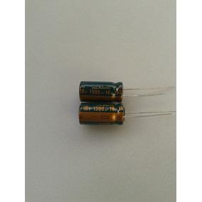 05 Capacitor Eletrolítico 1500uf 16v Envio Carta Registrada