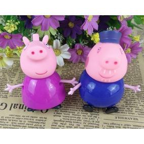 Miniaturas Família Peppa Pig Porco Vovô E Vovó Kit 2 Peças