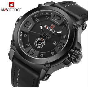 Relógio Masculino Naviforce Pulseira Couro