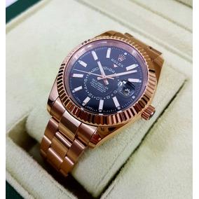 Reloj Rolex Sky-dweller Oro Rosa Esfera Negra Automatico