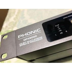 Processador De Efeitos Dfx 2000 - Phonic