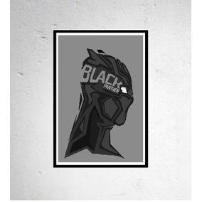 Poster Pantera Negra Mimalista 42cm Herois Adesivo Premium