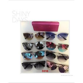 5123d777ddcf4 Óculos De Sol Feminino Estilo Vintage Modelo Gatinho 5518