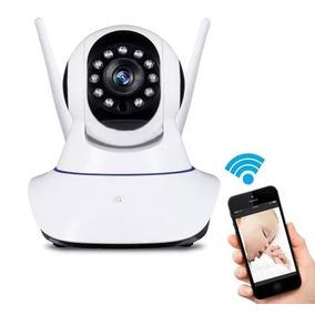 Câmera De Segurança Sem Fio Ip Hd Alta Definição P2 Micro Sd