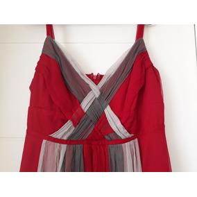 Vestido De Fiesta Seminuevo Talla 12