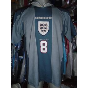 Camiseta Selección Inglaterra Euro 1996 Gascoigne #8 T. L