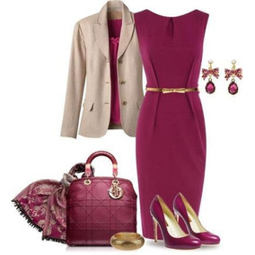 Vestido +blazer Elegante Evangelica E Executiva Cod#ble+