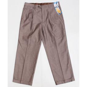 Pantalon De Vestir 38 X 30 Corte Con Pinzas Clasico