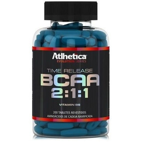 200 Tabletes B C A A - Time Release 2:1:1 Athletica Evolutio