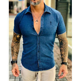 Camisa Social Slim Fit Blusa Tropical Verao Florida Rosas