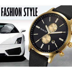 Reloj North Deportivo Lexury Gold Brow Casual N608